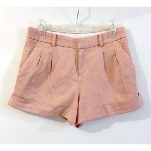 Uniqlo Peach Pink Tencel Linen Blend Chino Shorts